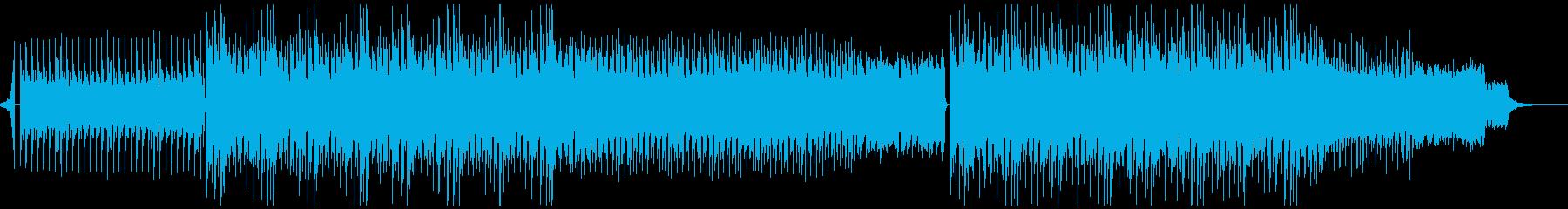 近未来的で疾走感のある曲の再生済みの波形
