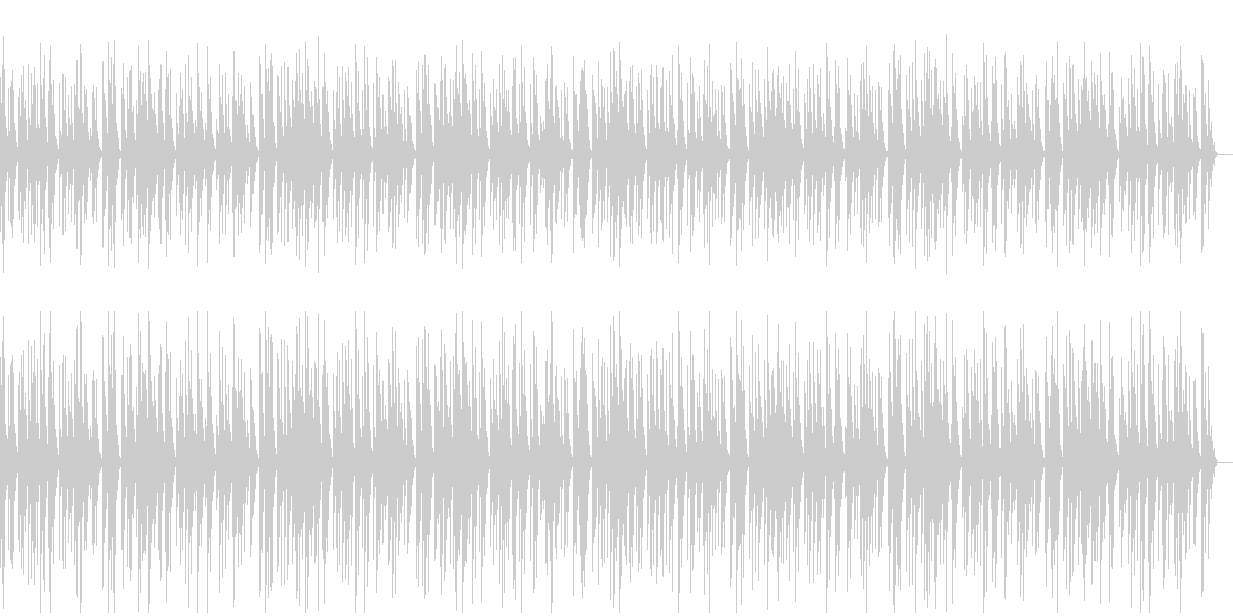 ゆったり静かなかわいいオルゴールの未再生の波形