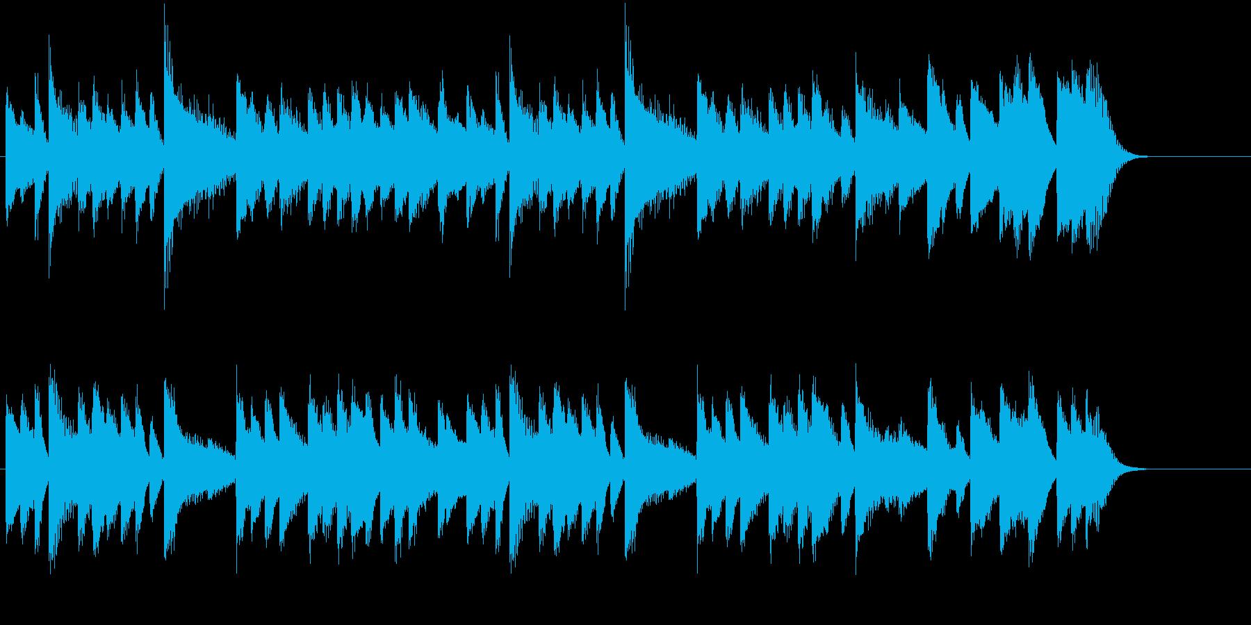 素朴で可愛いひょうきんメロピアノジングルの再生済みの波形