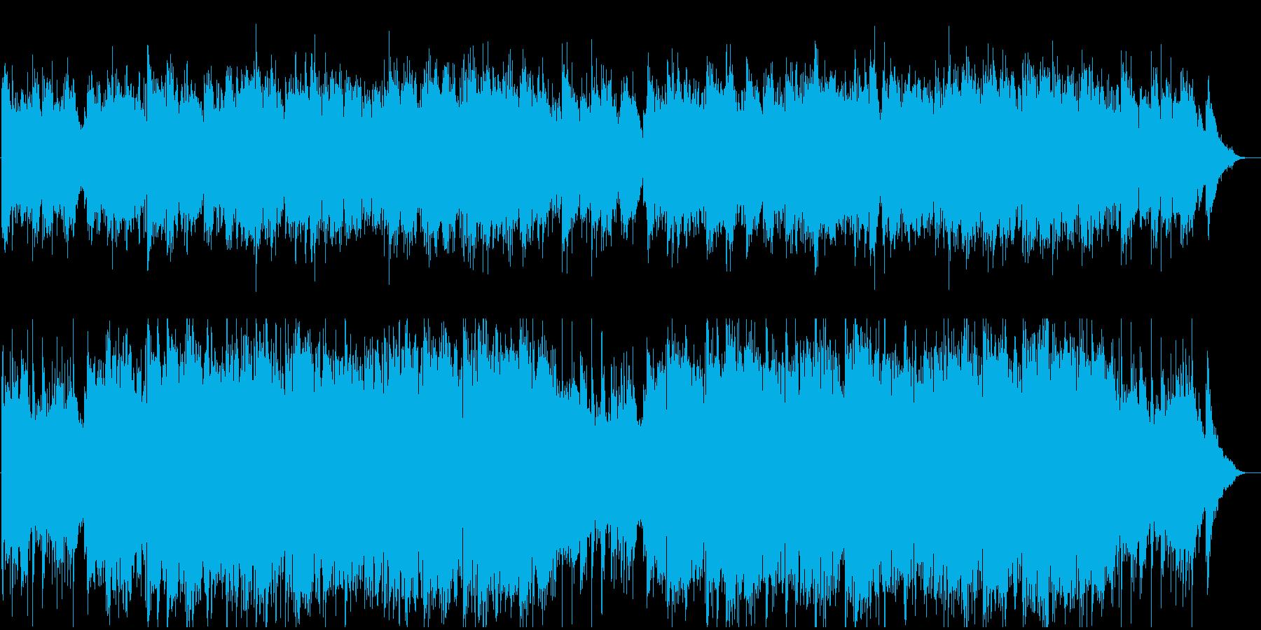 美しく爽やかな音色のハープとフルートの再生済みの波形