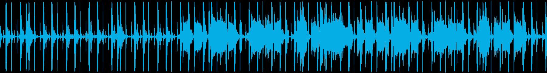 待機画面にピッタリループ仕様のFunkの再生済みの波形