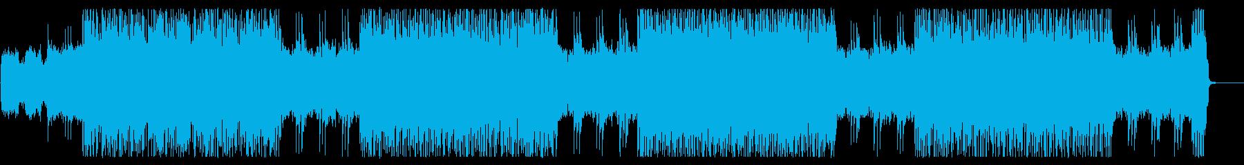 バトルシーン向けで重厚感のあるメタルの再生済みの波形