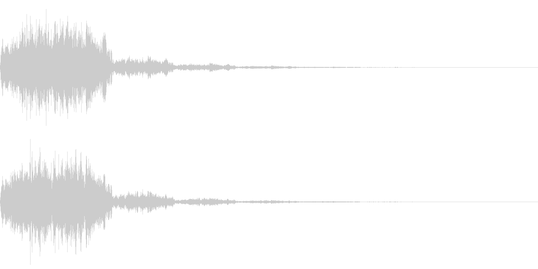 決定音(ゲームタイトル画面の決定音音)の未再生の波形