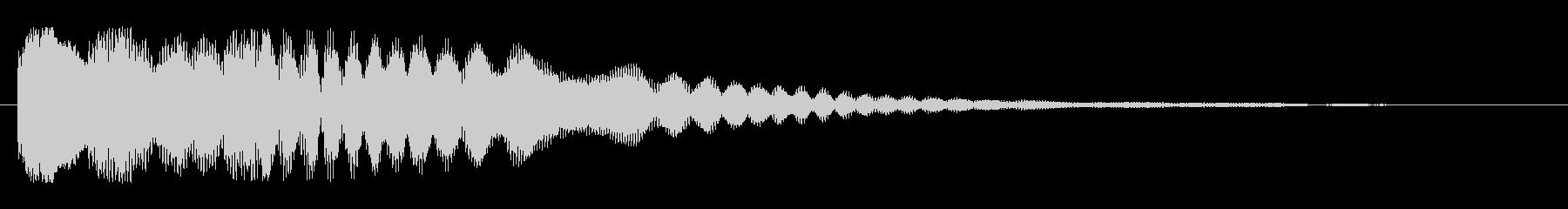キラリーン(高めの可愛らしい効果音)の未再生の波形