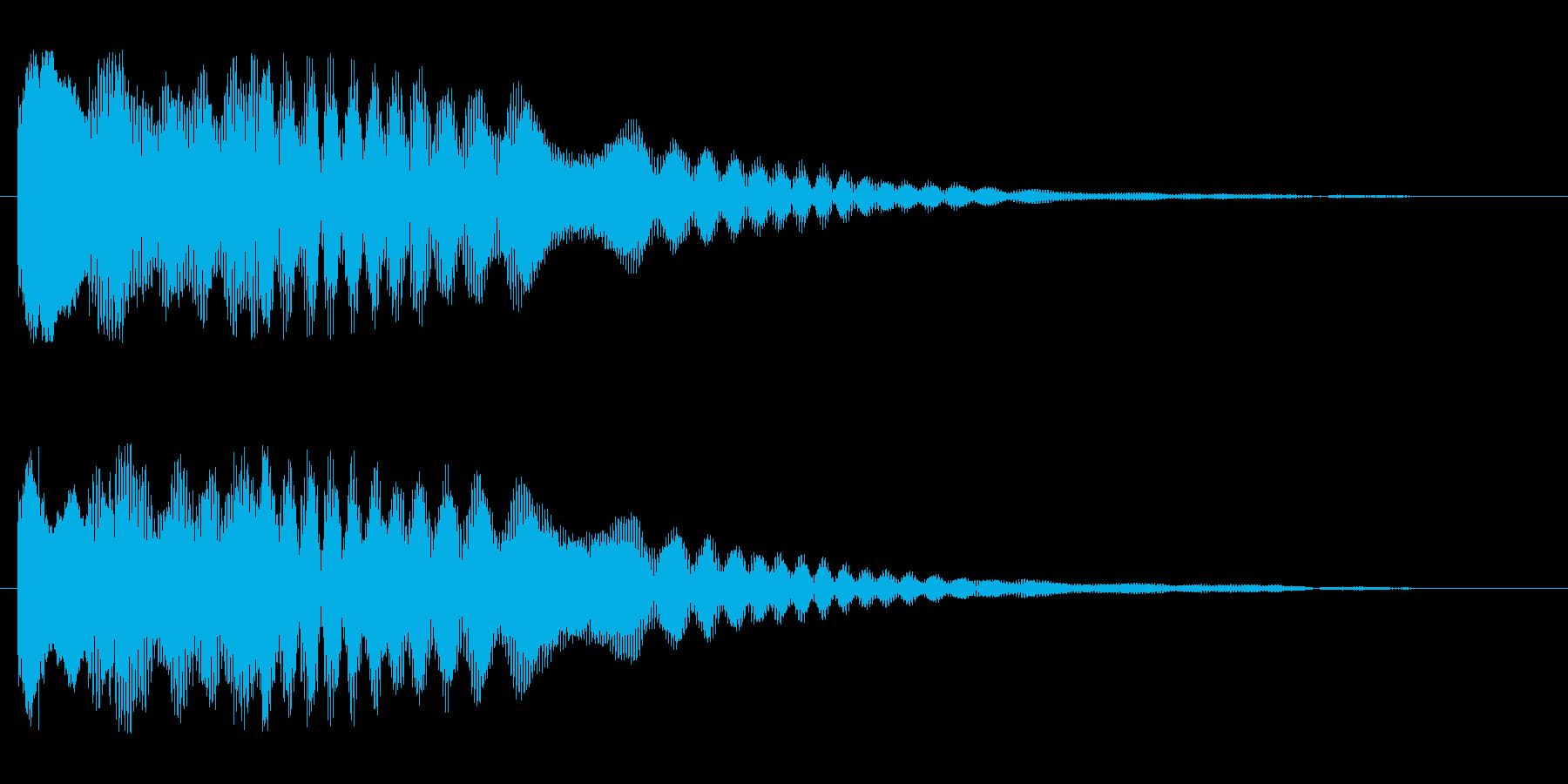 キラリーン(高めの可愛らしい効果音)の再生済みの波形