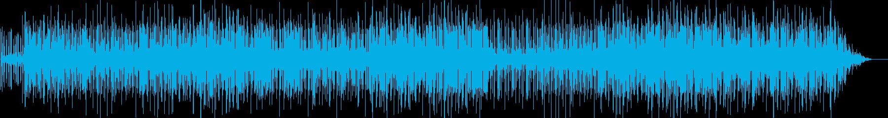 ファンキーな曲の再生済みの波形