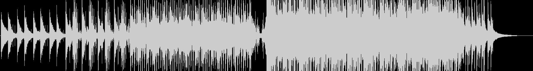 アンビエントな雰囲気のミニマルなピアノ曲の未再生の波形