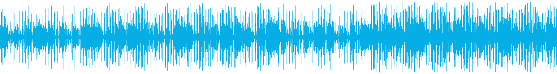 *ループ素材 クールなディープハウス1の再生済みの波形