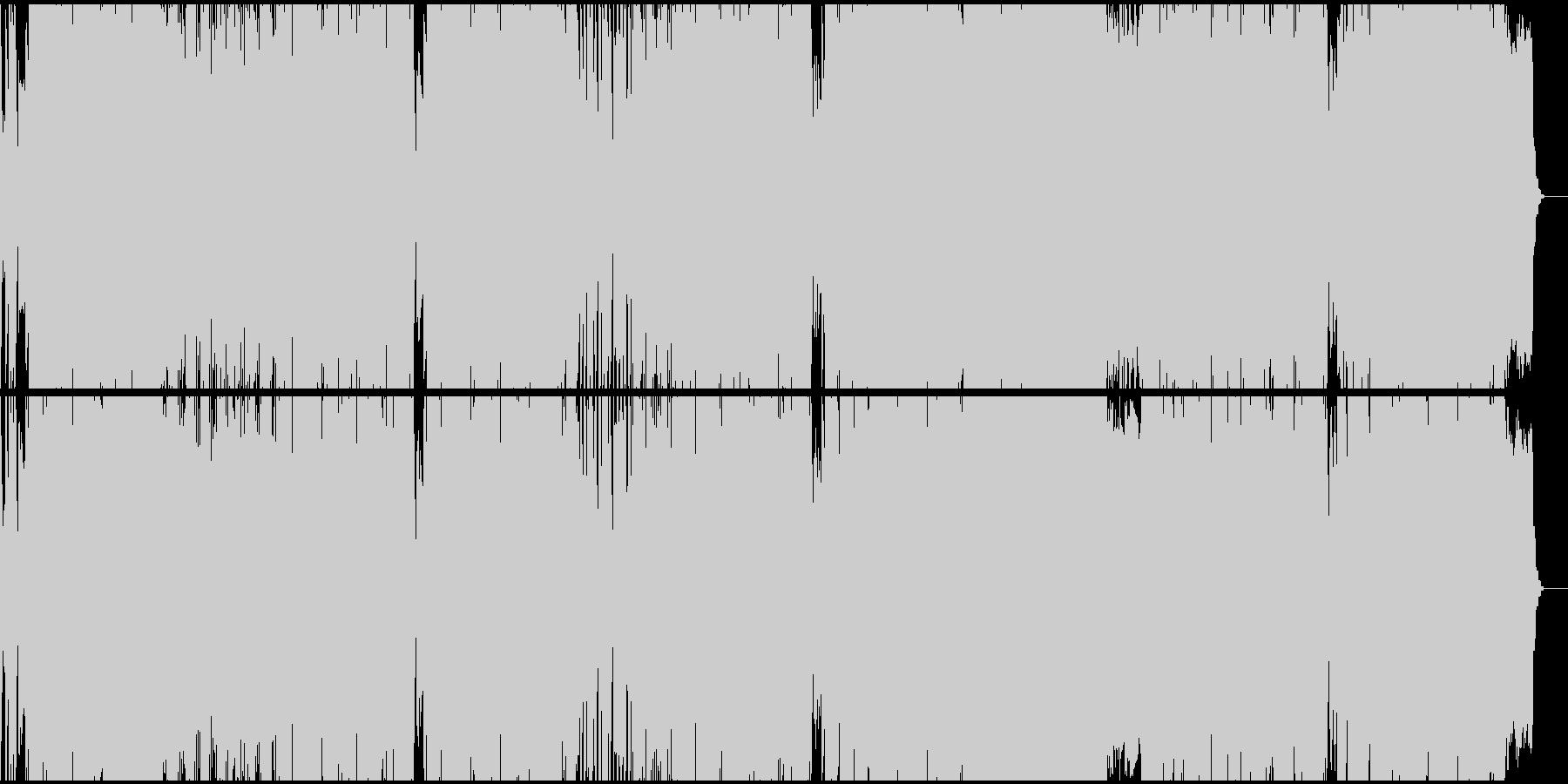 女性ボーカル/テクノポップの未再生の波形