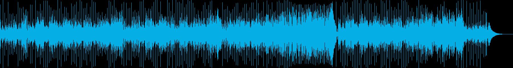 ラテンフィーリングを感じるソロギターの再生済みの波形