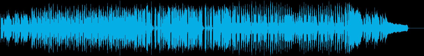 素朴でのんびりした曲の再生済みの波形