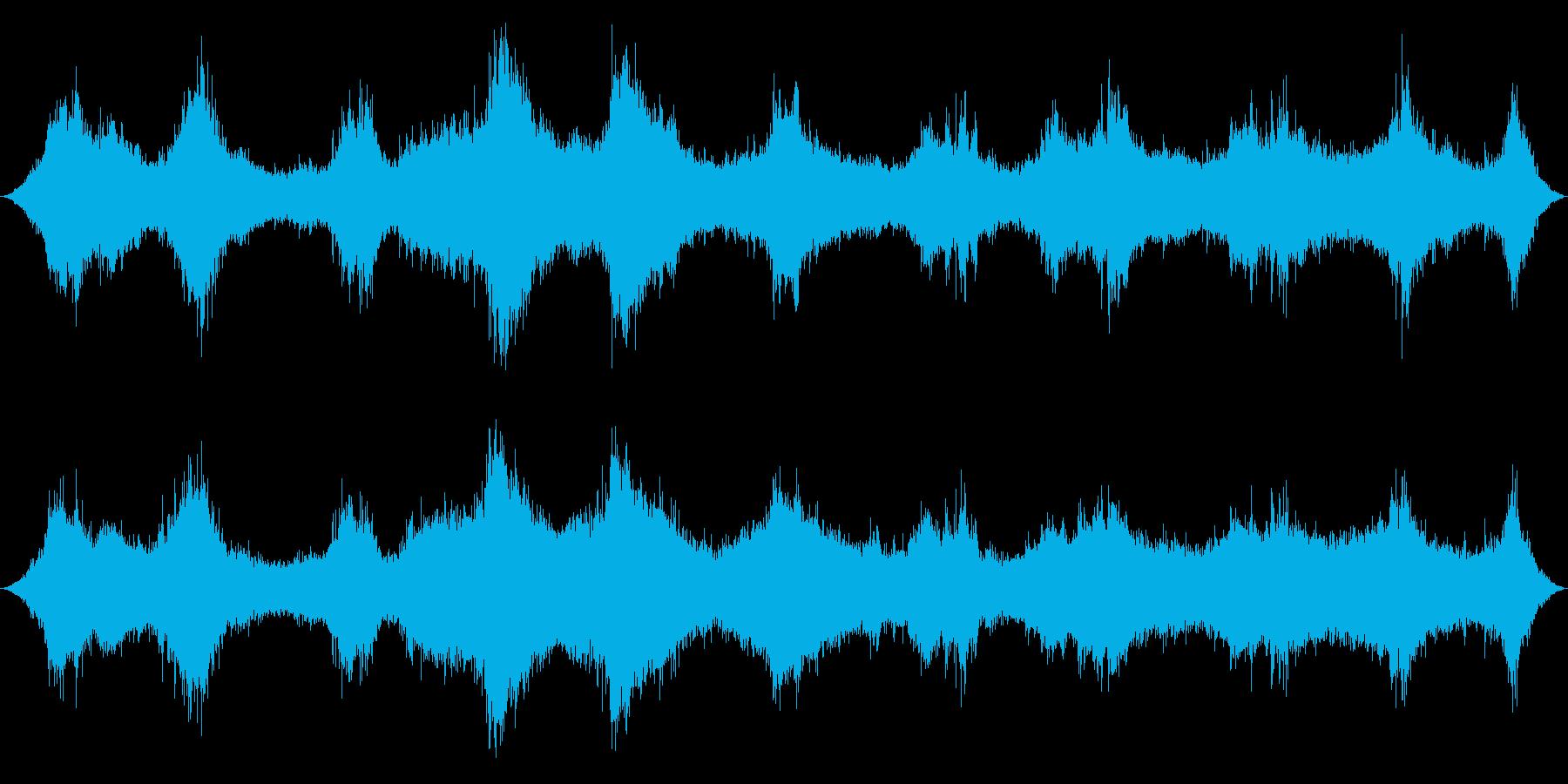 海洋:中程度の波、明るい鳥の再生済みの波形