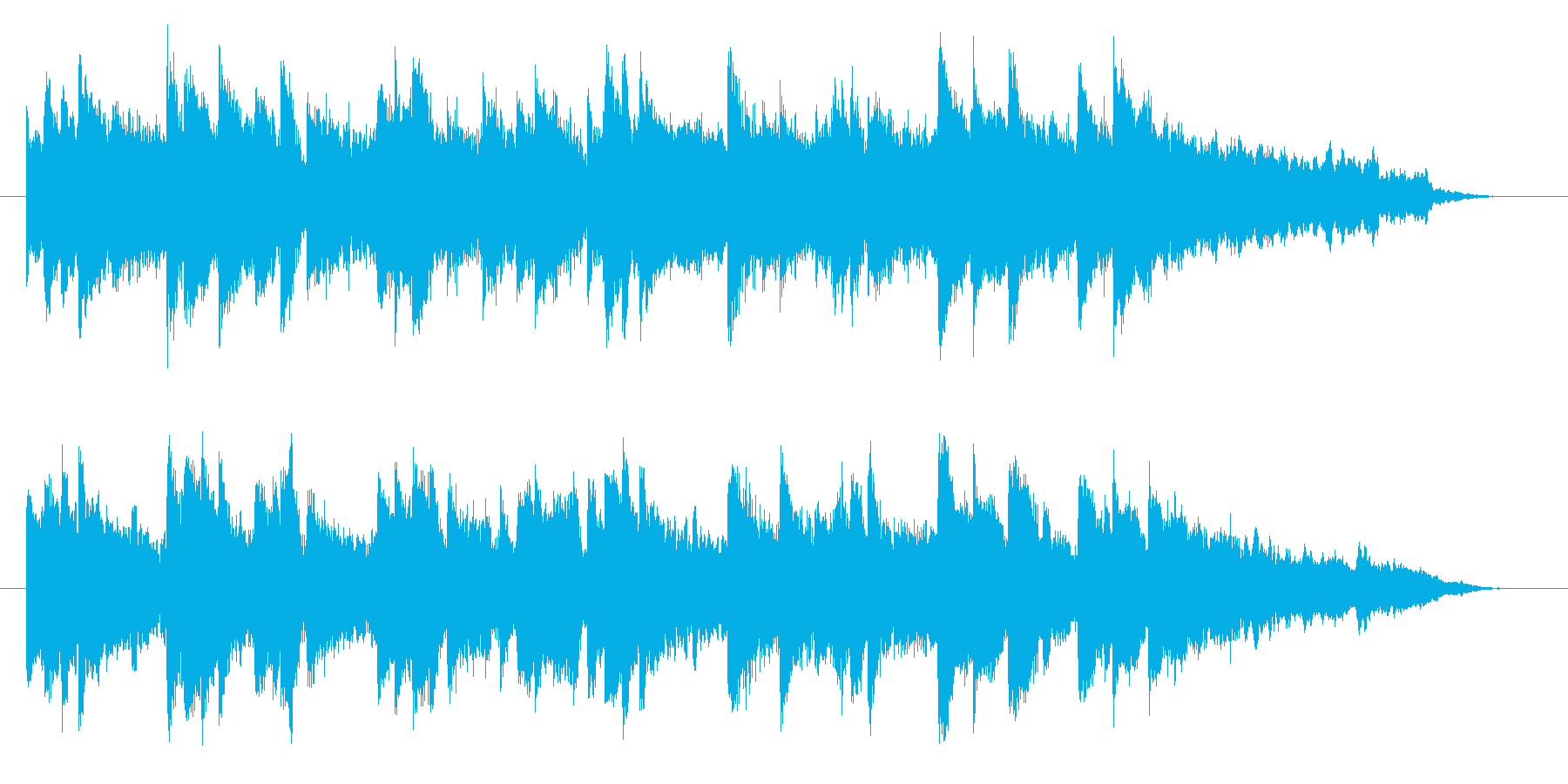 哀愁感漂うピアノBGMの再生済みの波形
