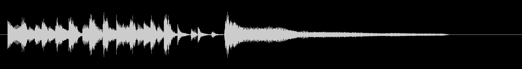おしゃれなジャズテイストの楽しいボサノバの未再生の波形