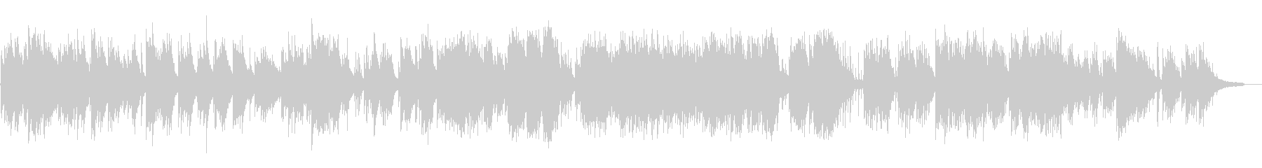 暖かく静かな日常的なピアノソロの未再生の波形