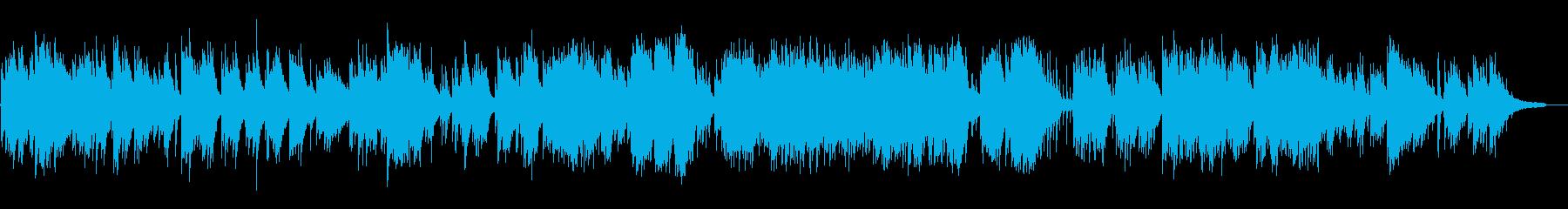 暖かく静かな日常的なピアノソロの再生済みの波形
