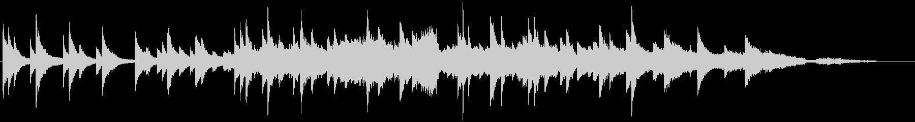 波音とピアノソロとストリングスの未再生の波形