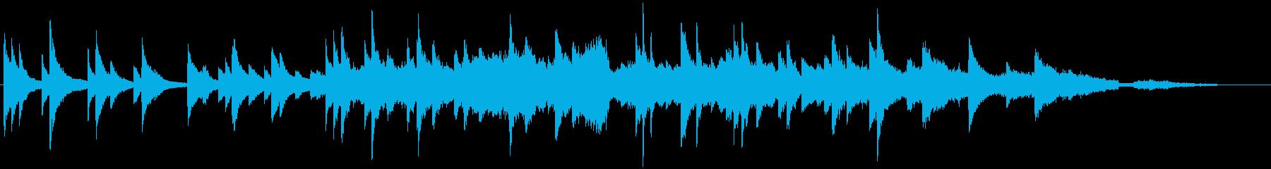 波音とピアノソロとストリングスの再生済みの波形