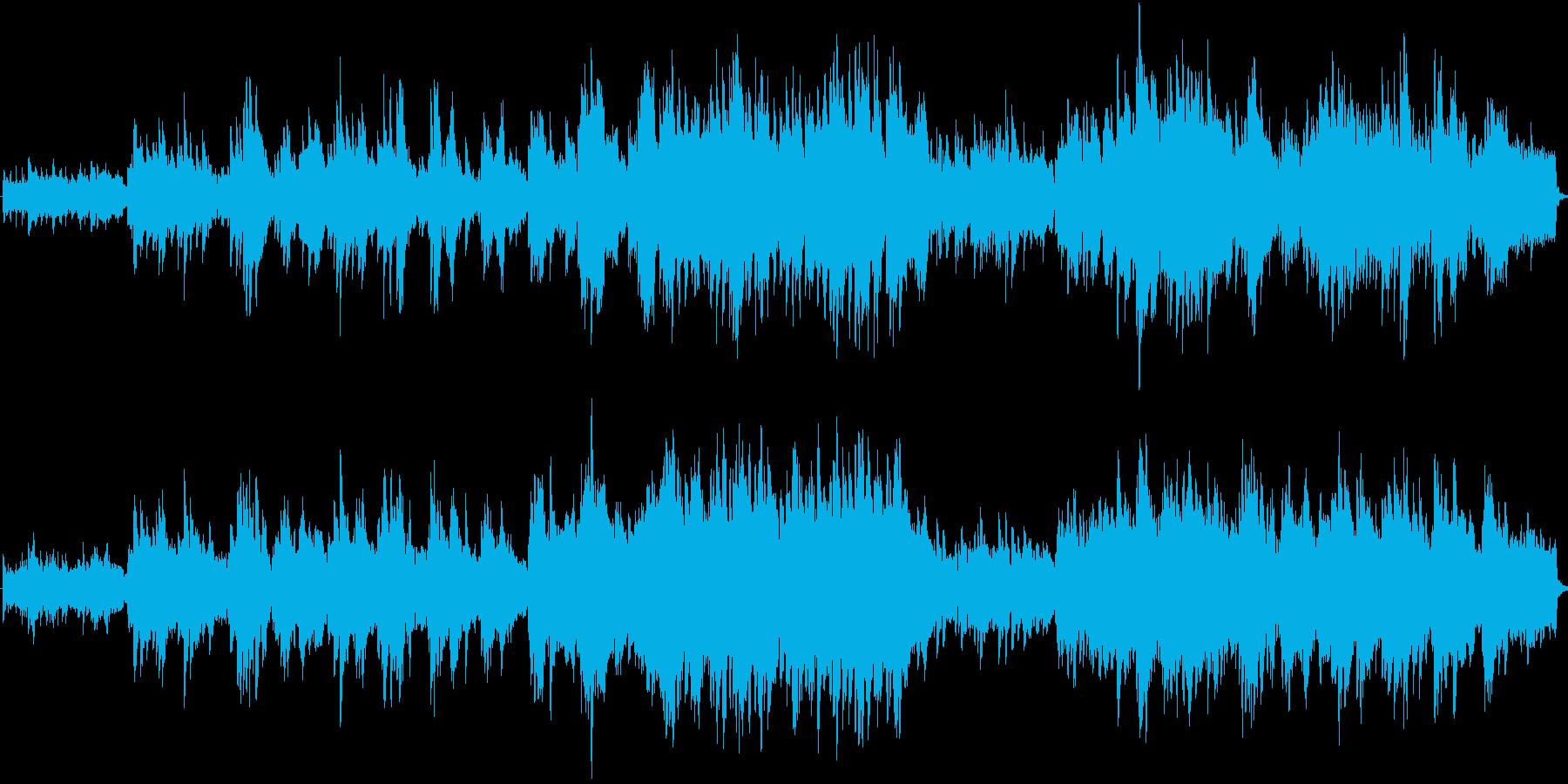 ピアノが優しく響く明るいオーケストラ曲の再生済みの波形