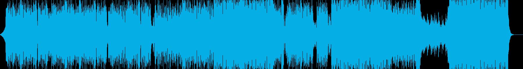 シンセベースの音が心地よいテクノの再生済みの波形
