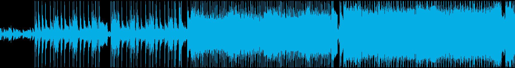 元気で明るい前向きなロックBGMの再生済みの波形
