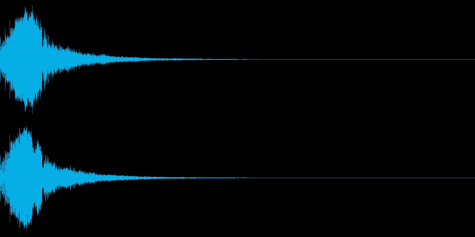 ピコッ(未来感のある決定音)の再生済みの波形
