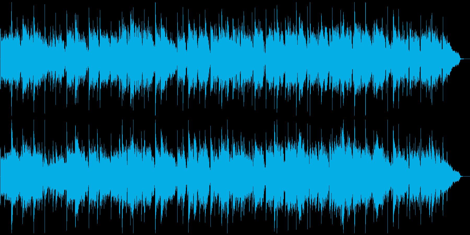 ノスタルジックな笛のリラクゼーション曲の再生済みの波形