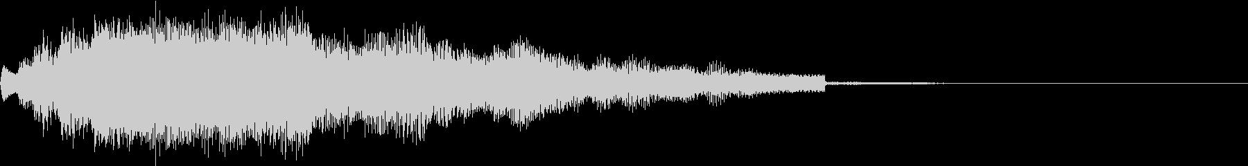 パソコンの起動音のようなアイキャッチの未再生の波形
