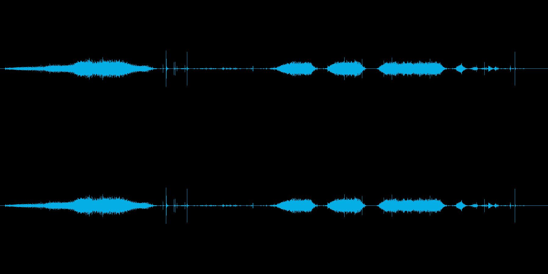 古いミシンの再生済みの波形