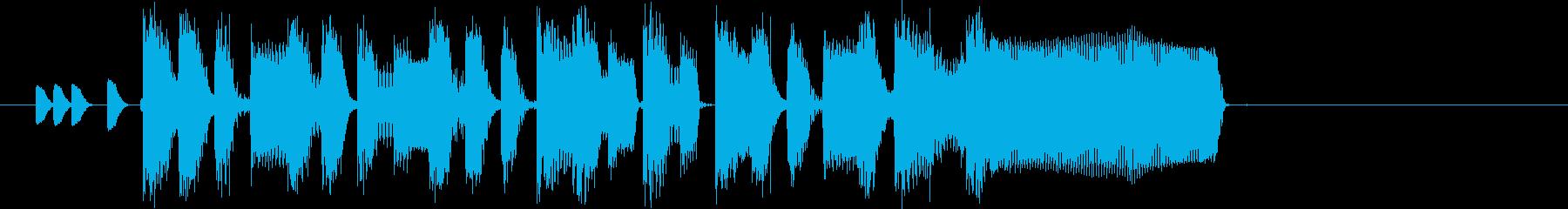 駆け足のかわいいピコピコジングルの再生済みの波形