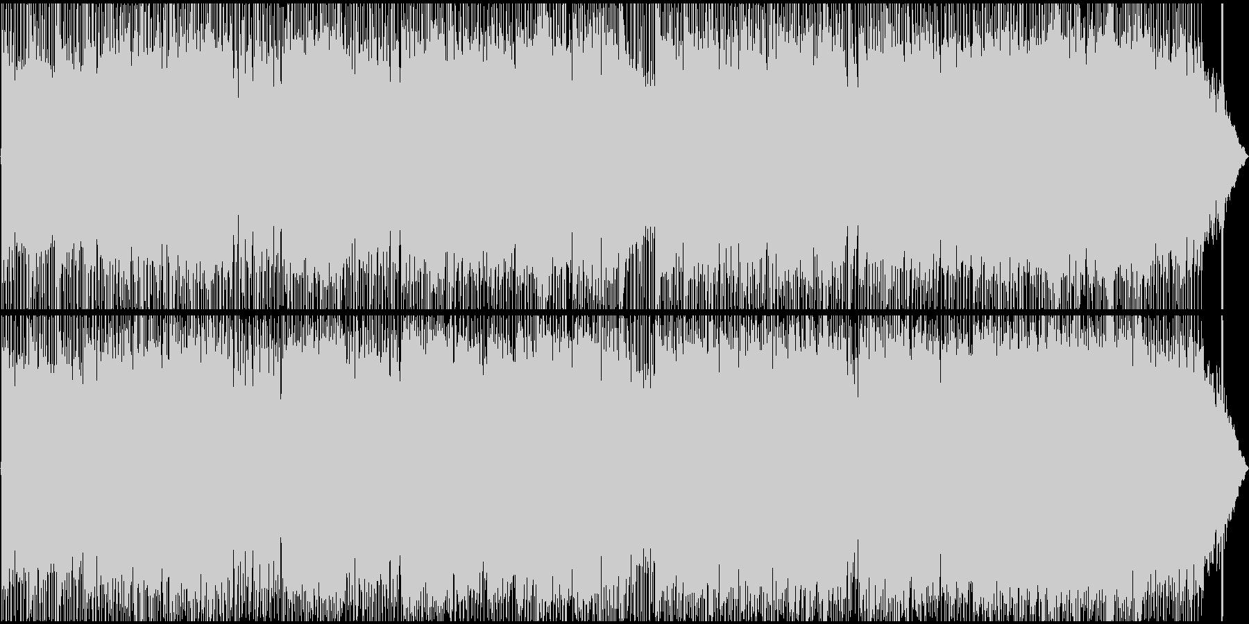 エネルギッシュで活動的なロックBGMの未再生の波形