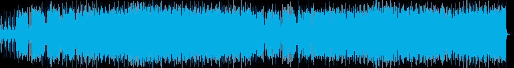 飛び跳ねまわるような奇妙で力強いインストの再生済みの波形