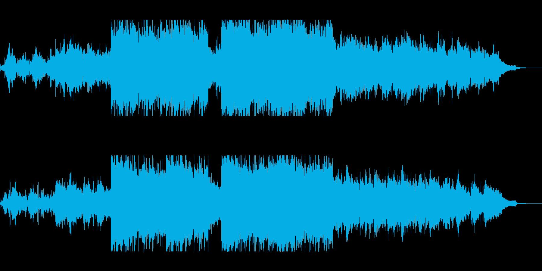 幻想的で浮遊感があるシンセミュージックの再生済みの波形