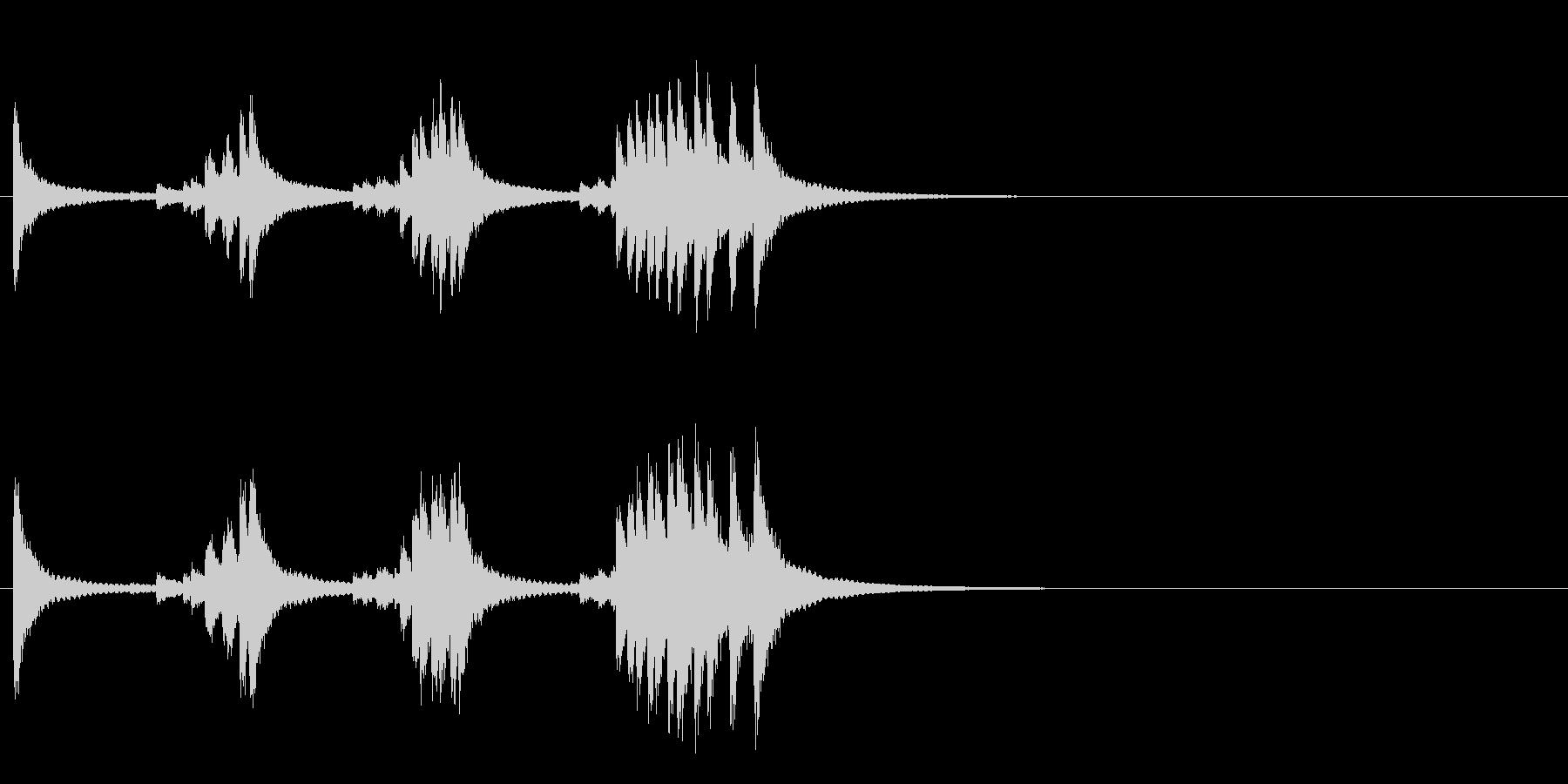 小型の鐘「本つり鐘」のフレーズ音4の未再生の波形