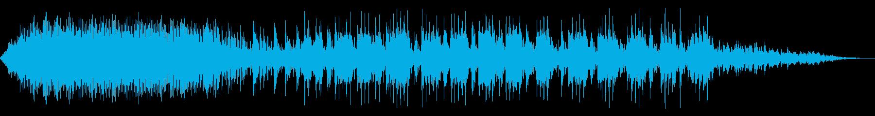 プロペラ機エンジンの停止の再生済みの波形