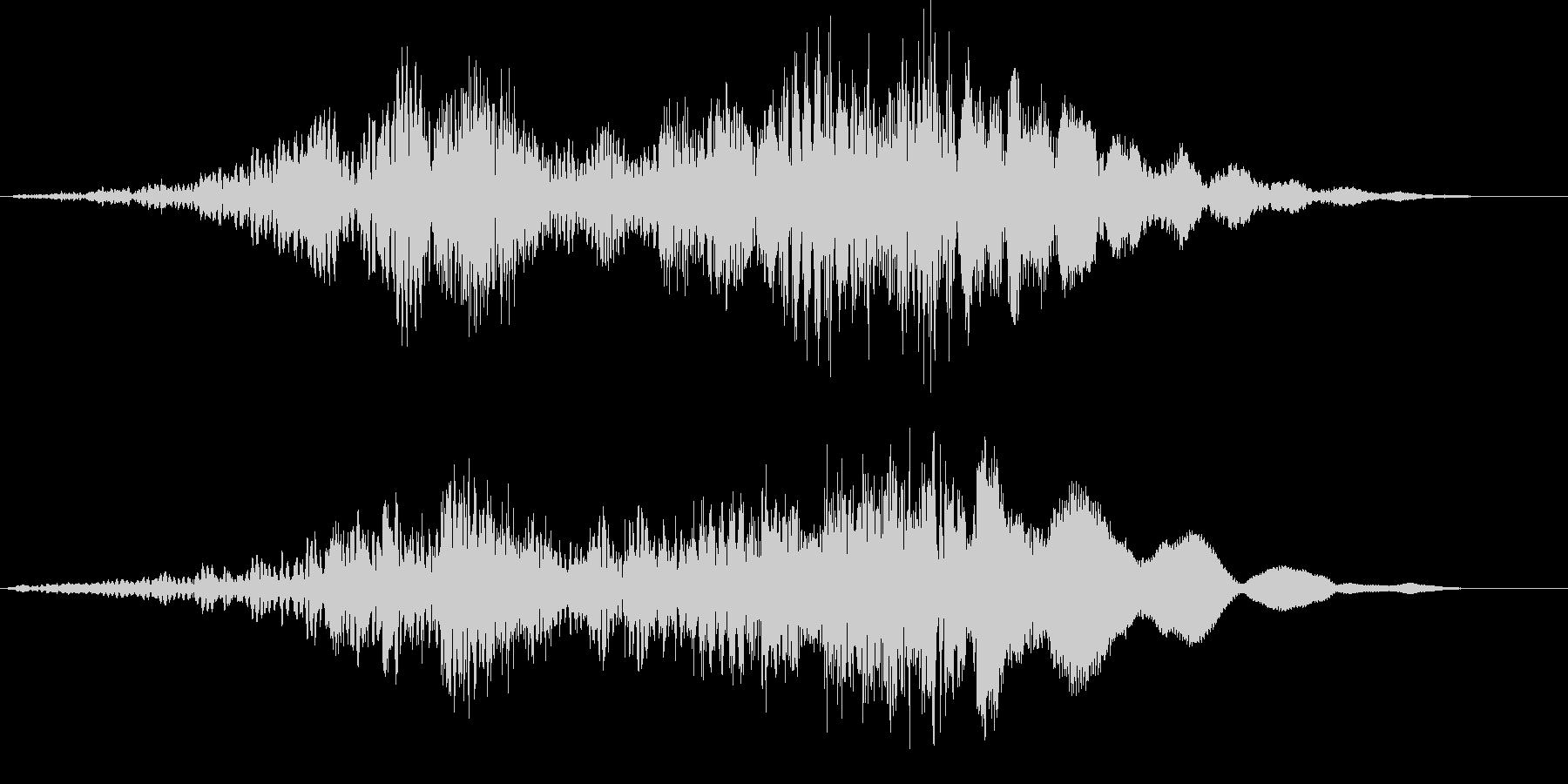 【ホラーゲーム】電波交信シーン_無線の未再生の波形