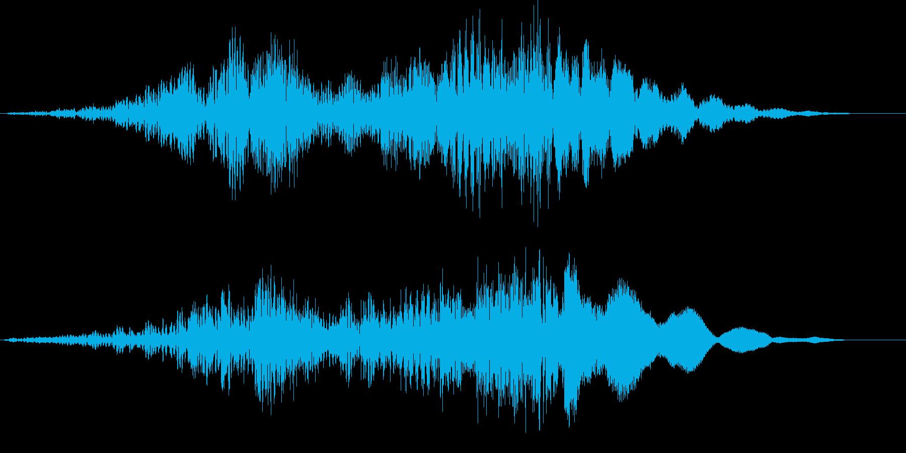 【ホラーゲーム】電波交信シーン_無線の再生済みの波形