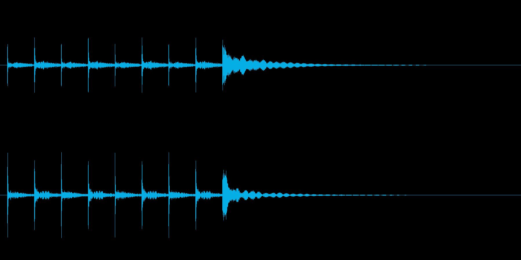 木魚ポクポクチーン約5秒シンキングタイムの再生済みの波形