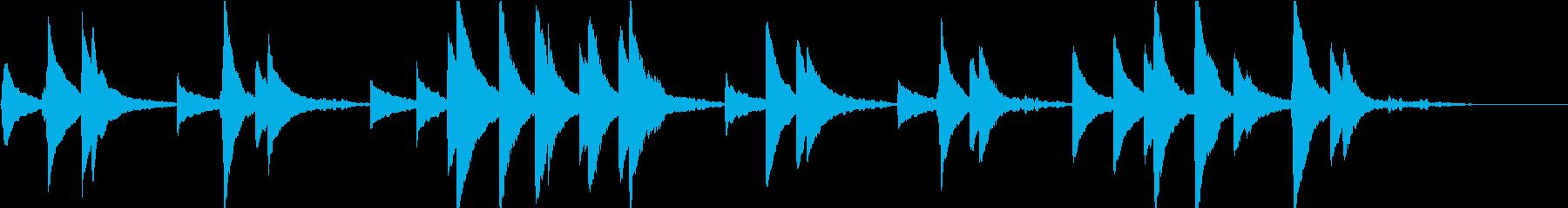 婚礼の合唱(オルゴール)ショートの再生済みの波形
