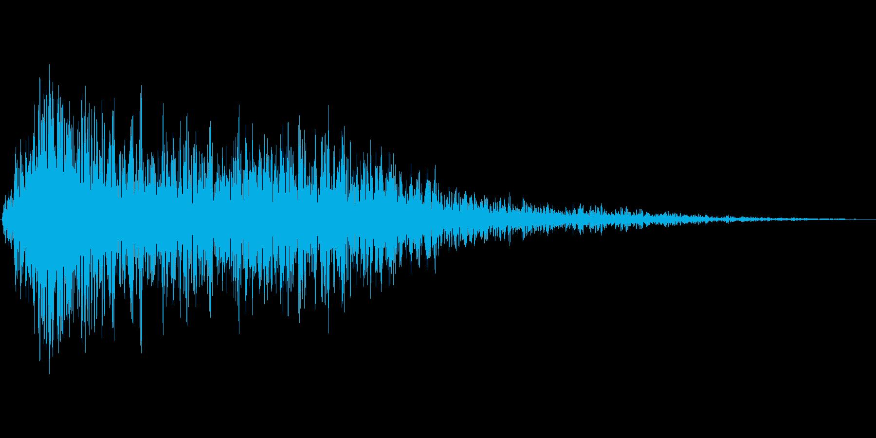 炎の音01の再生済みの波形