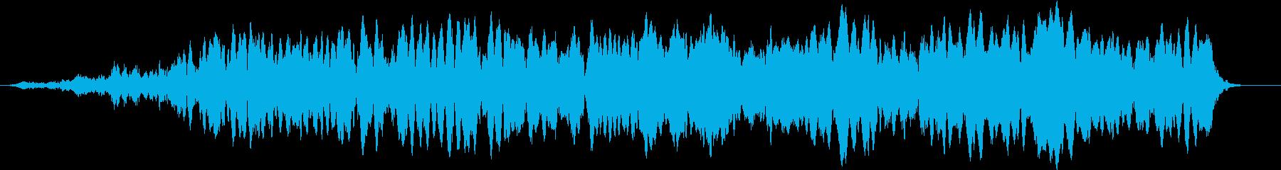 「おおおおお」デスボイス(高い声)の再生済みの波形