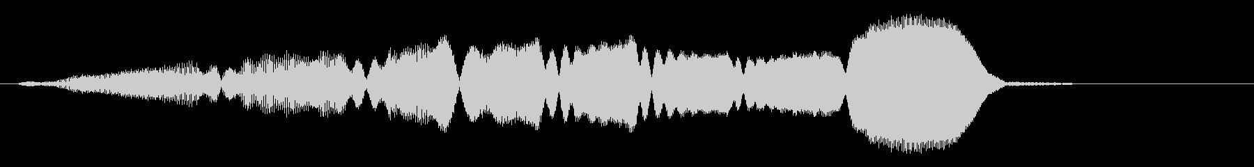 パンフルートの上昇 グリッサンドの未再生の波形