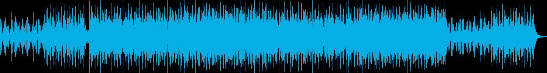 和の雰囲気が印象的なBGMの再生済みの波形