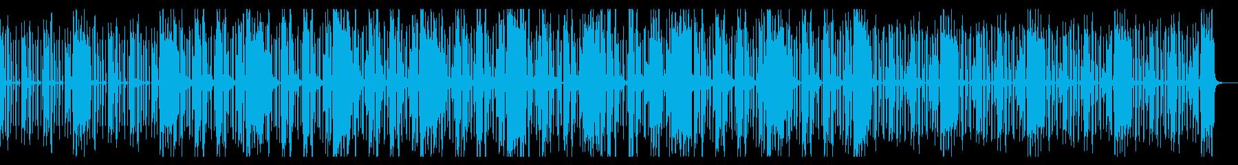 ゆったり感のあるファンク風インストの再生済みの波形