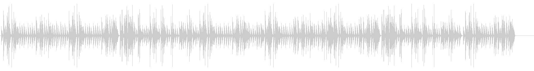 古い映画、ラグタイムピアノ、AMラジオ風の未再生の波形