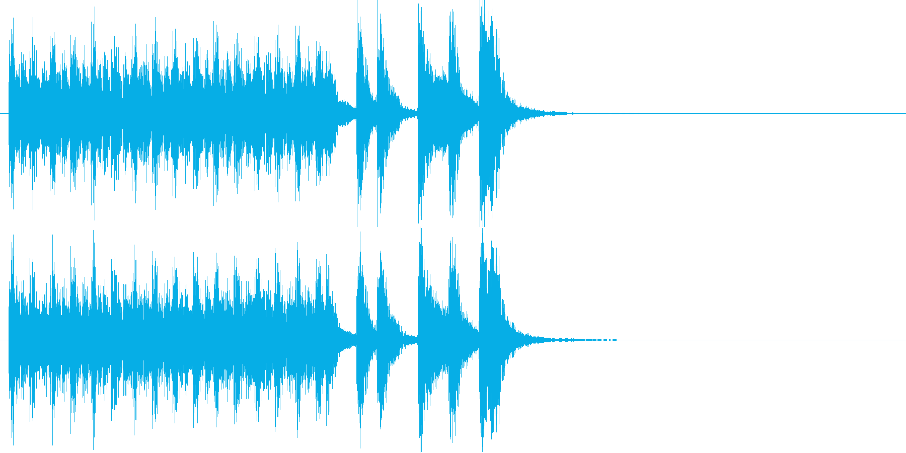 和楽器によるハイテンションな和風ポップの再生済みの波形