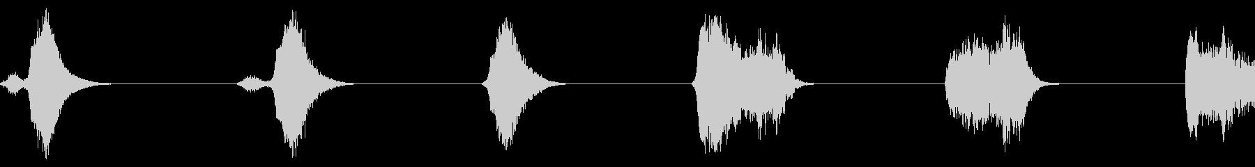 ファイアボールシアーズサンプルx6の未再生の波形