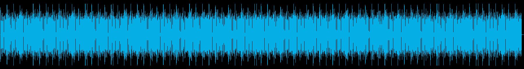 おしゃれなエレピとファンキーなベースの曲の再生済みの波形