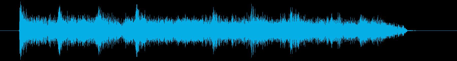熱いフレーズのエレキギターのジングルの再生済みの波形
