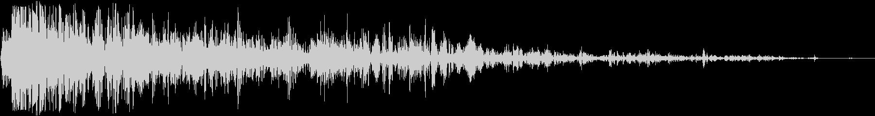 パワフルなロックシャッターヒットの未再生の波形